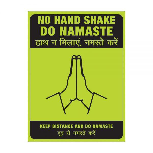 No Hand Shake Do Namaste green