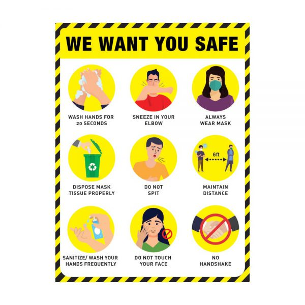 We Want You Safe yellow