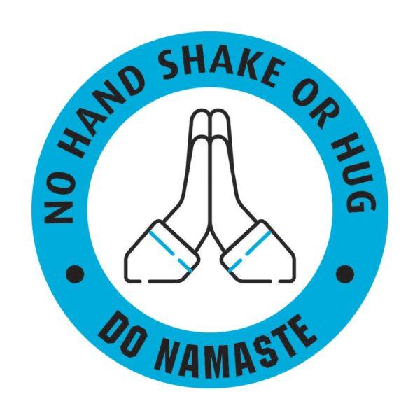 No Hand Shake Do Namaste Poster Sticker Blue