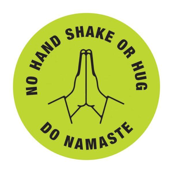 No Hand Shake Do Namaste Poster Sticker Green
