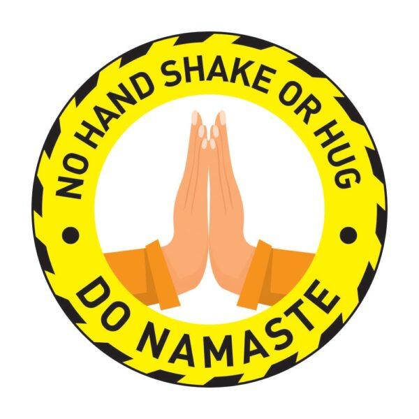 No Hand Shake Do Namaste Poster Sticker YEllow