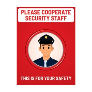 Please Corporate Security Staff Red