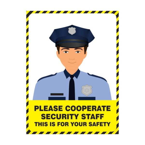 Please Corporate Security Staff Yellow