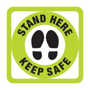 Stand Here Sticker Green