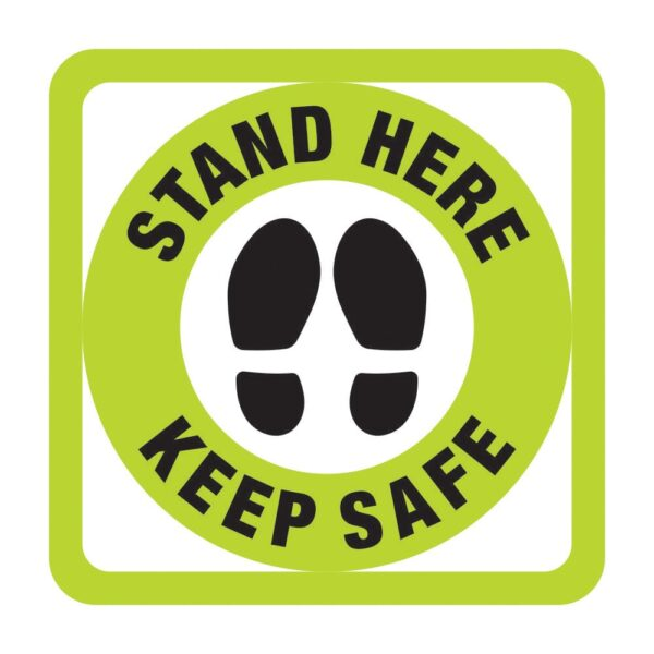 Stand Here Sticker Green