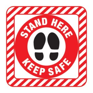 Stand Here Sticker Red