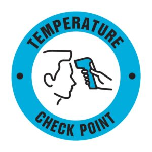 Temperature Check Point Sticker Blue