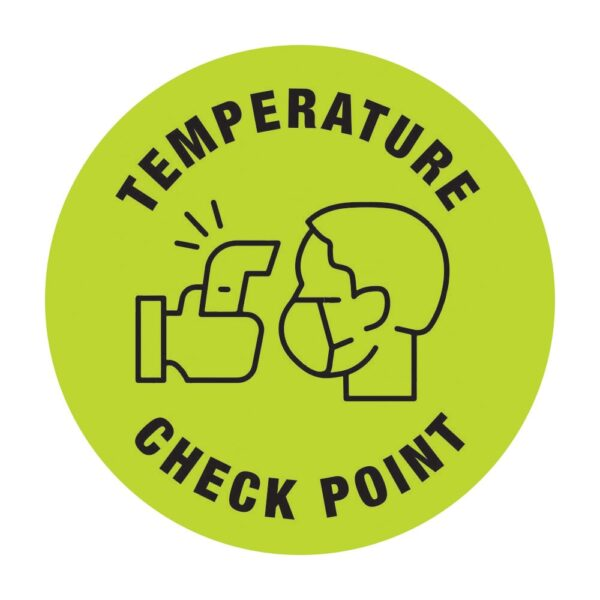 Temperature Check Point Sticker Green
