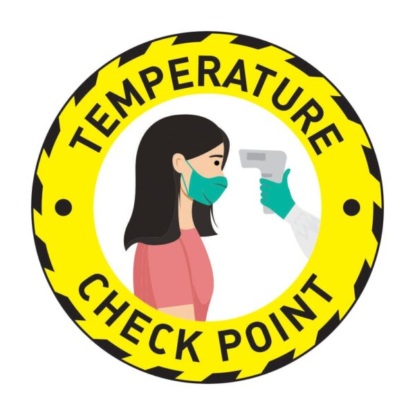 Temperature Check Point Sticker Yellow