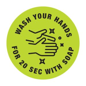 Wash Your Hands Sticker Green